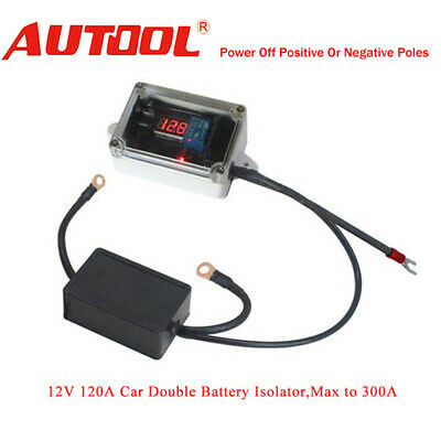 Car Double Battery Isolator Protector Auto Dual Battery Controller Max 300A 12V