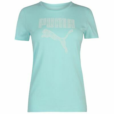 Puma Womens Pastel Logo T Shirt Ladies Short Sleeve Crew Neck T-Shirt Tee Top