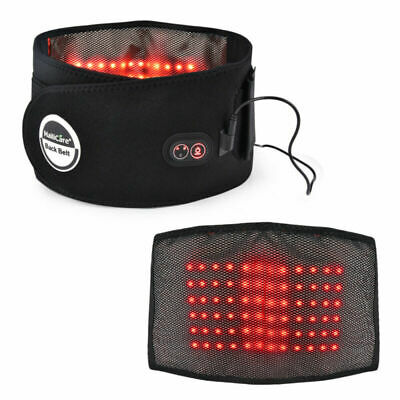 Electric Far Infrared Vibration Hot Compress Waist Belt Therapy Pain Relieve NEW