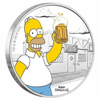 2019 Tuvalu 1 oz. Silver The Simpsons Homer Proof