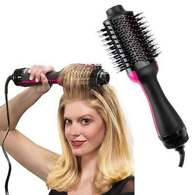 Salon One-Step Hair Dryer and Volumizer Hair Comb 2 in1 Hair Straightener Curler