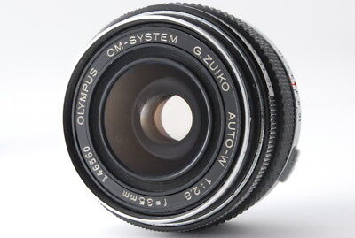 """""""For Parts"""" Olympus OM-System G.Zuiko Auto-W 35mm f/2.8 MF Lens from Japan #727"""