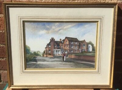 Vintage Original Watercolour - THE LYTTLETON ARMS HAGLEY - Signed & Dated 1989.
