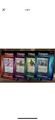 Magic The Gathering: Commander 2018 - Set of Four (4) Brand New Factory Sealed