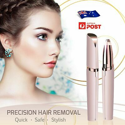 Electric Brow Remover Razor Face Eyebrow Trimmer Facial Hair Removal LED Light