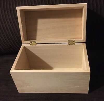 Wood Recipe Box by Darice Natural unfinished Holds Small Index Cards DIY