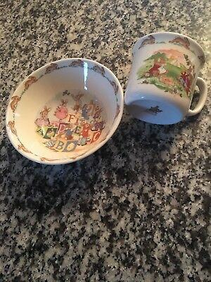 Royal Doulton Bunnykins 2 pc Child Set Bowl Plate Cup EASTER