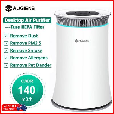 AUGIENB 205sq.ft Air Purifier Cleaner HEPA Filter Odor Dust Mold Smoke Remover