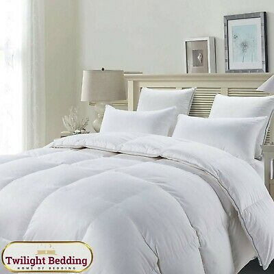 Duck Feather & Down Quilt Duvet and Pillow Set 13.5 Tog Soft & Warm Home Bedding
