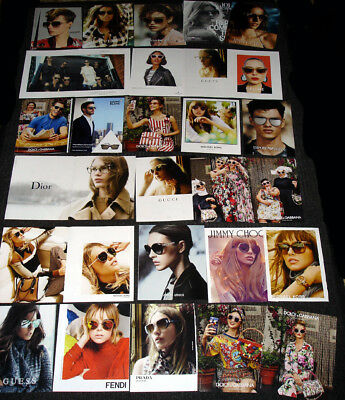WOMEN'S & MEN'S LUXURY EYEWEAR Magazine Print Ad Clipping Set - Over 100  PAGES!
