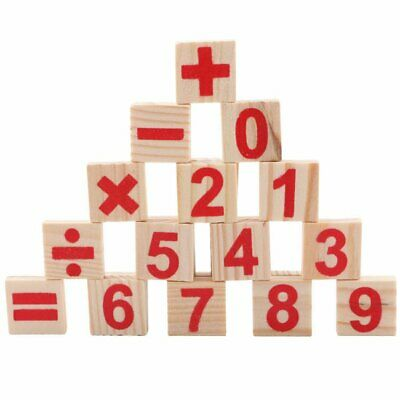 52 Spindles Wooden Counting Game Mathematics Material Toy Educational Toy AZ