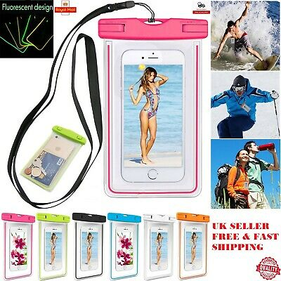 Waterproof Fluorescent Underwater Case Dry Bags Pouch Mobile Phone iPhone XR XS