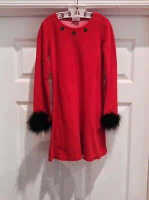 Fabulous So Fun Girl's Red Velour Dress-Worn Once!-Size 7
