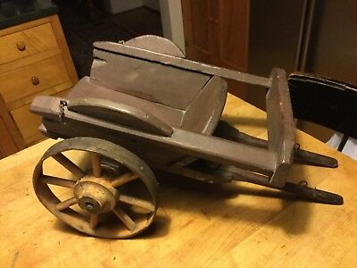 RARE Antique English Tip Cart for Pull Toy Horse Ox Very Good Vintage Condition