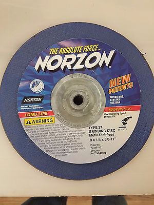 NEW NORTON 7 X 1//4 X 7//8 TYPE 27 GRINDING DISC #05945