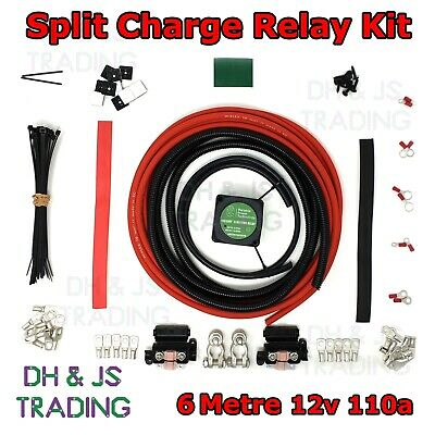 6M Split Charge Relay Kit Voltage Sensitive - Camper Van Conversion Campervan