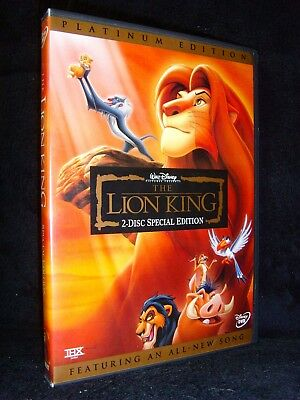The Lion King (DVD, 2003, 2-Disc Set, Platinum Edition, Features All-New Song)