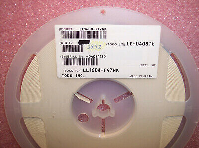 QTY (3952) LL1608-F47NK TOKO 47nH 0603 SMD MULTILAYER CHIP INDUCTORS
