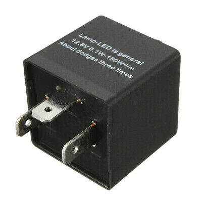 3-Pin LED Flasher Blink Speed Adjustable Relay For Motorcycle Turn Signal