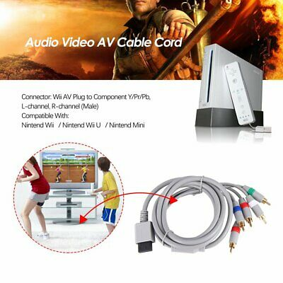 6FT HD TV Component RCA Audio Video AV Cable Cord Plug for Nintend Wii U Wii AZ