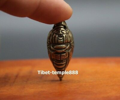 3.5 CM Chinese Bronze Wealth God Fortune Mammon Fengshui Statue amulet Pendant