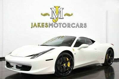 2013 Ferrari 458 Italia **CARBON FIBER RACING PACKAGE** 2013 FERRARI 458 ITALIA~ ONLY 5200 MILES~CARBON FIBER RACING PACKAGE~WHITE/BLACK