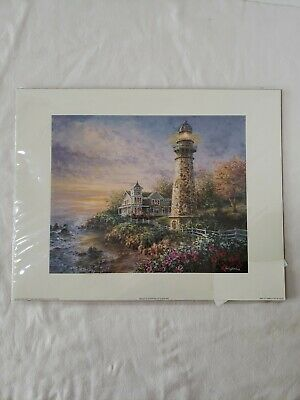 Majestic Gardens Oil Painting Lithograph By N. Boehme