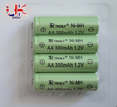 AA Ni-MH 300mAh 1.2V Rechargeable Solar Light Batteries For Garden Lights& Decor