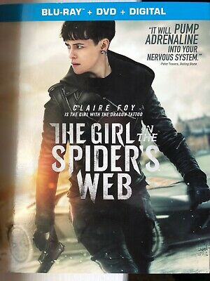 THE GIRL IN THE SPIDER'S WEB (Blu-Ray/DVD, 2018) *NEW!*