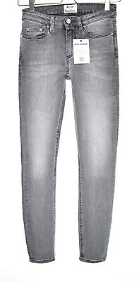 847bd6f0c9be9 Ladies Acne Super Skinny Mid Rise SKIN 5 COAL Grey Black Jeans Size 6 W25  L32