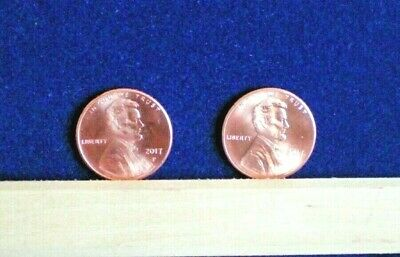 2017 P Lincoln Shield Cent BU Uncirculated Pennies U S Coin Two