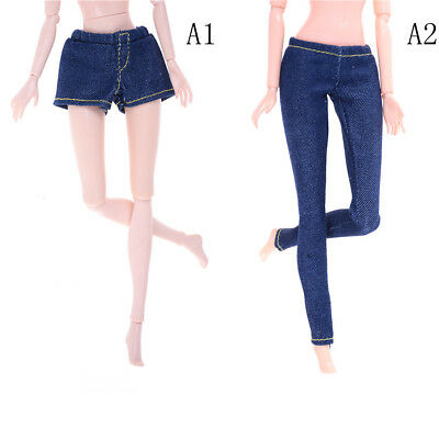 Elastic Jeans Trousers Long Pants Shorts For Blythe 1/6 Dolls Accessory P0CA