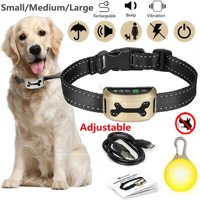 Rechargeable Anti Dog Barking Collar No Bark Control Training w/Sound&Vibration