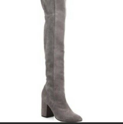 1156214734d COLE HAAN DARLA Grey Suede Leather OVER THE KNEE BOOT WOMEN S SIZE 5 ...