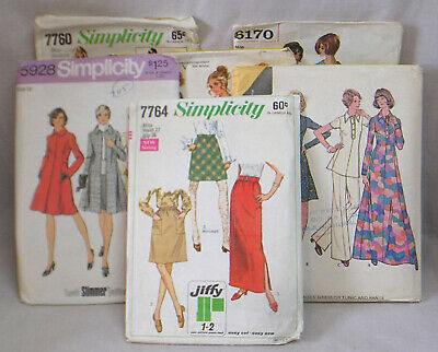 Vintage LOT Six 1960s Vintage Dress Clothing Sewing Patterns McCall's Simplicity
