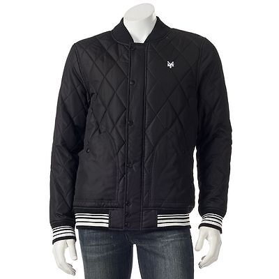 9b3efb2ce NEW MENS ZOO York Scout Bomber Jasket Size: (L) Large Black