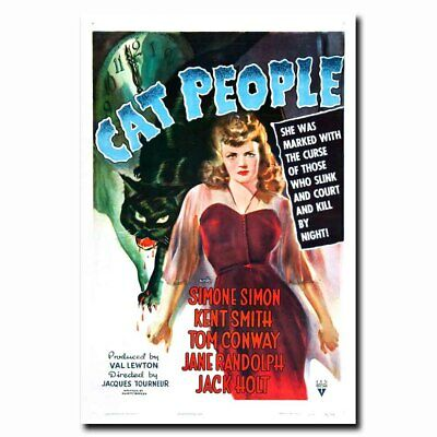 Cat People 24x36inch Vintage Style Old Horror Movie Silk Poster Hot Cool Gifts