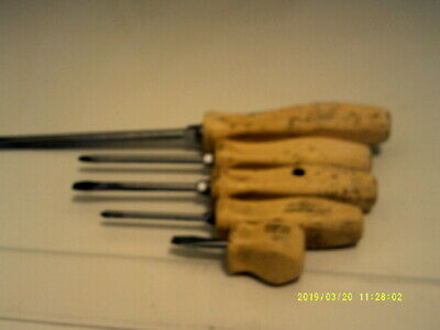 Snap-On Tools 5 Piece Screwdriver Set 3 Flathead & 2Phillips