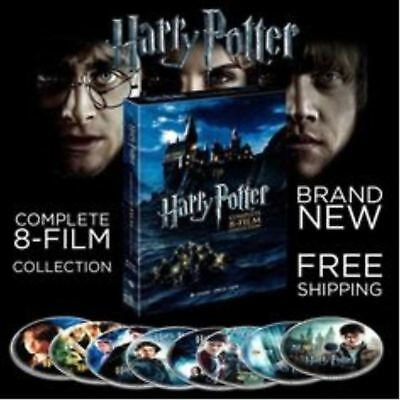 Harry Potter Brand New DVD Complete 8 Film Box Set Movies Disc Free Shipping