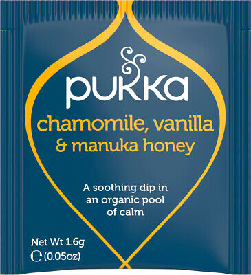 Pukka Herbal Organic Tea Sachet - Chamomile, Vanilla & Manuka Honey (20 Sachets)