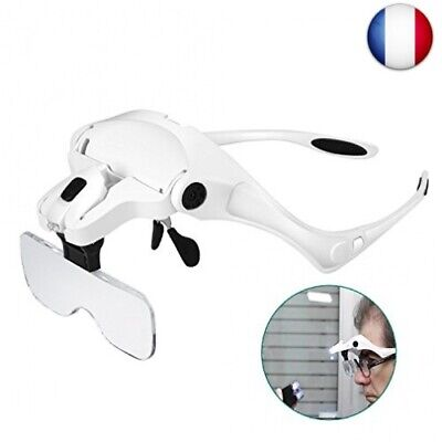 Lunette Loupe avec 2 LED - Rightwell® Loupe Eclairante Loupe Frontale pour