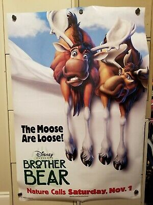 Brother Bear Original 2003 Double Sided Movie Poster Joaquin Phoenix 27X40