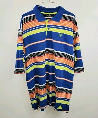 45846a4dc086 Southpole Mens Polo Shirt Size XL Striped Multi-Color Short Sleeve GUC  Collared