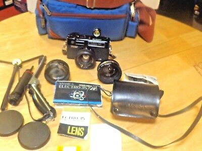 Yashica Electro 35 Gt Gold Mechanica 35 Mm Camera With Extras