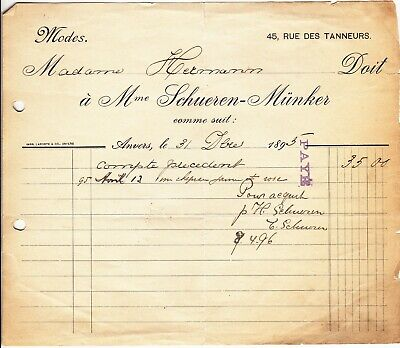 Ancienne facture 1895