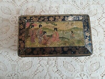 Antique Japanese Chinoiserie Style Distressed Box
