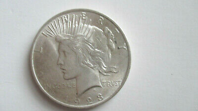 1923 Peace Silver Dollar.  Brilliant Uncirculated
