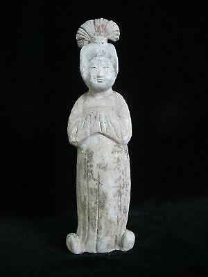 HAN DYNASTY Chinese Female Clay Figure of a COURT LADY Burial Tomb Statue