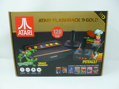Atari Flashback 9 Gold HD, AtGames, 120 Built-in Classic Games 720P HD Display