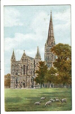 CPA - Carte Postale - Royaume Uni Salisbury - Cathedral- WestFront VM1561